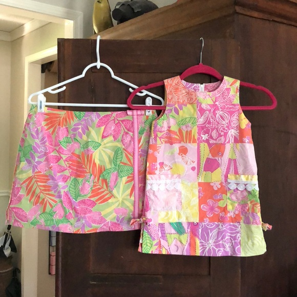 33df4c6e50bc80 Lilly Pulitzer Skirts | Pink Frogs Mommy And Me Set | Poshmark